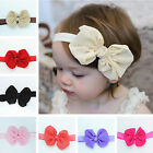 Kids Girls Baby Toddler Elastic Soft Bowknot Hair Headband Headwear Party Gift
