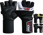 RDX Weight Lifting Gloves Body Building Gym Glove Training Straps Wrist Leather