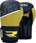 RDX Leather Boxing Gloves Fight Punch Bag MMA Muay Thai Grappling Kick UFC F6