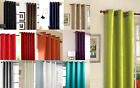 2 PANELS GROMMET SILK WINDOW CURTAINS DRAPE FOAM LINED BLACKOUT THERMAL 84