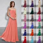 Long Bridesmaid Formal Prom Wedding Gowns Party Evening Ball Dresses Size 6-26