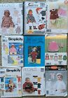 Baby Toddler Clothes Sewing Patterns Sold Individually Many Sizes Some Vintage