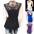 Stunning Cross Bust Lace Embroidered Sleeveless Top size 8/10, 12, 14 & 16