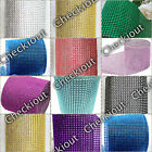 "4.5"" x 10 Yards Wedding Decoration Supplies Rhinestone Diamond Wraps Ribbon Mesh"