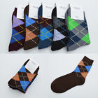 Chosen Men's Hit colors Socks Argyle Dress Socks New Casual Cotton Socks 1 Pair