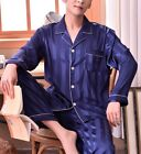 Mens Silk Satin Pajama Set US S M L XL XXL 3XL Loungewear Multi-color Silkpeace