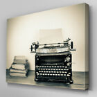 AB520 Vintage Typewriter Abstract Canvas Wall Art Ready to Hang Picture Print