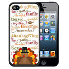 THANKSGIVING RUBBER CASE FOR iPHONE 8 7 6 5 5c SE PLUS TURKEY TEXT