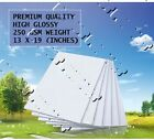 """13"""" x 19"""" premium quality high gloss photo paper 20 to 100 sheet glossy not roll"""