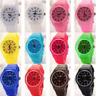 Womens Mens Geneva Sports Silicone Quartz Wrist Watch Rubber Band Outdoor Sports
