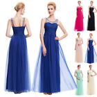 Long Champagne Bridesmaid Formal Gown Ball Party Evening MAXI Prom Dresses ,Pink