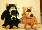 Soft and Cuddly Wishpet Bears in Brown or Black and in Large and Small Sizes