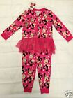 New Disney Baby Minnie Mouse nightwear pyjamas pink all in one onesie tutu