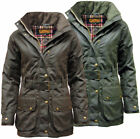 Womens Game Cantrell Antique Waxed Cotton Padded Wax Jacket | Coat