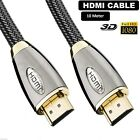 0.5m-10m High Speed HDMI Cable Premium Gold Ethernet Ultra HD 2160p 3D HDTV LCD