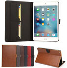 Retro Bussiness Leather Case Flip Sleep Cover For Apple iPad mini 4 Accessory&SP