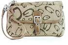 TAN Designer Inspired women's wristlet wallet