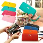 High Quality Bows Card Leather Clutch Women Purse Handbag Holder Lady Wallet
