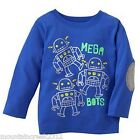New JUMPING BEANS Boys ~ MEGA BOTS Robot Graphic Tee Top ~ Blue ~ 12 months Baby