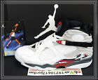 2013 Nike Air Jordan 8 VIII Bugs Bunny White Black Grey Red 305381-103 US 11.5 1