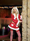 Leg Avenue - 2 pc Cutie Santa hooded , Christmas crop top & garter skirt 83139