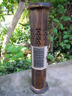 INCENSE STICK & CONE SMOKE BOX TOWER- WOOD CARVED 10 FREE INCENSE STICKS
