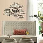 Family Meaning Wall Quote Design Wall Art Vinyl Stickers Transfer Murals Decals