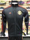 NEW ADIDAS Manchester 3-Stripes Track Jacket - Black/Red; AC1925