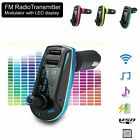 Dual USB MP3 Player Car FM Transmitter Audio Redio Charger Kit For Mobile phone