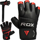 RDX Weight Lifting Gloves Gym Fitness Training Long Straps Bodybuilding Workout