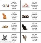 LARGE PERSONALISED CAT KITTEN ADDRESS MAILING CRAFT LABELS 8 Per Sheet