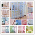 Room Voile Window Curtain Door Sheer Tulle Panel Drapes Scarfs Multi Styles New