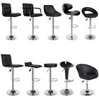 2 Bar stools set faux leather kitchen stool breakfast chair chrome 1x Lounge