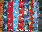 CHILD XL TODDLER BIB HANDMADE PLANES MICKEY MINION BUZZ CARS OLAF MONSTERS 101