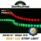 Bow+LED+1+Ft+Submersible+Red+Green+Navigation+Light+Waterproof+Marine+Boat+12V