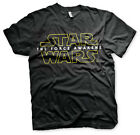 STAR WARS THE FORCE AWAKENS OFFICIAL MOVIE LOGO T-SHIRT £7.95 GBP