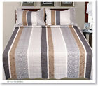 3 Pcs Floral Printed 100% Cotton Fill Quilt Set Bedding Bedspread coverlet PR05
