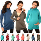 Purpless Maternity 2in1 Pregnancy and Discreet Nursing Hoodie with Zips 9052