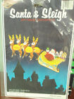 Vintage Beistle Creation Santa & Sleigh Centerpiece Chirstmas Decorations 1979