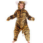 Tiger Costume Kids Fancy Dress Childs Fur Cat World Book Day Animal Outfit