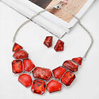 Women Fashion Jewelry Pendant Crystal Choker Chunky Statement Chain Bib Necklace