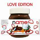 PERSONALISED NOVELTY ANNIVERSARY GIFT NUTELLA LABEL FOR HIM HER
