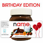 PERSONALISED NUTELLA LABEL Kids Birthday Party Fun Celebration Gift