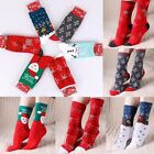 Women Christmas Sock Snowflake Stocking Santa Claus Reindeer Deer Snowman Xmas