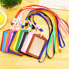 Chic 10PCS ID Leather Card Holder Card Case Badge Necklace Neck Strap Lanyard