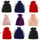 10/25/50/100PCS Pure Color VELVET Jewellery Drawstring Gift Bag POUCHES - Choose