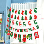 Vintage MERRY CHRISTMAS Hanging Banner Garland Bunting XMAS Party Decor Flags