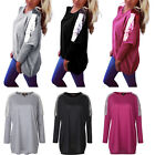 Sexy Women's Sequins Loose Casual Long Sleeve Batwing Tee Shirt Tops Blouse