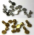20 HEART PENDANT BAILS GLUE ON 16mm x 8mm  SILVER / GOLD PLATED TOP QUALITY