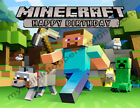 Minecraft Personalized Edible Image Premium Cake Topper Frosting Sheets 5 Sizes